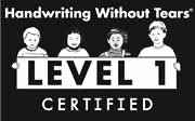 Handwriting Without Tears Level 1 Certified logo
